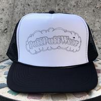 PuffPuff Stitch MESH CAP (BLACK/BLACK)