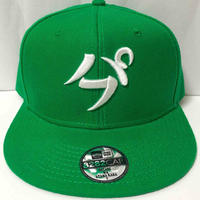 【3D刺繍】パフ SNAPBACK CAP(GREEN/WHITE)