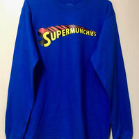 SUPER MUNCHIES LONG SLEEVE TEE(ROYAL BLUE)