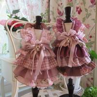 秋色ピンク リネンフリフリワンピ^^