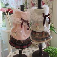雪の結晶セーラートップス&ウール取り外しスカートのセット^^