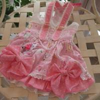 現品❤ ふんわりピンクのリボンワンピ  胴38 丈29