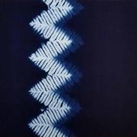 渡辺洋美 本藍染壁掛 『影』