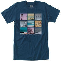 HIPPY TREE GRIDPOINT TEE Navy