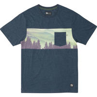 HIPPY TREE PINE HAZE KNIT TEE Heather Navy