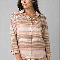 PRANA Womens Percy Top Stone Stripe