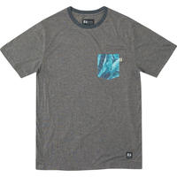 HIPPY TREE FRONDS KNIT TEE Heather Asphalt