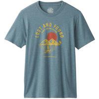 PRANA Bradhaw T-Shirt Blue Note Heather