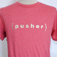 Pusher Logo Tee Red Heather