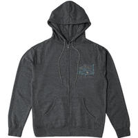 HIPPY TREE LOCALS HOODY Heather Charcoal