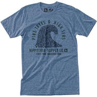 HIPPY TREE PINEWAVE TEE Heather Light Blue