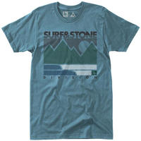HIPPY TREE LINEWORK TEE Blue