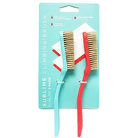 SUBLIME CLIMBING Slimline Climbing Brush 2 Pack Red/Teal