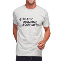 BLACK DIAMOND STACKED LOGO TEE Birch Heather