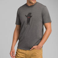 PRANA Bear Squeeze Journeyman T-Shirt Charcoal Heather