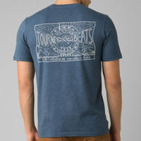 PRANA Castle Crest T-Shirt Denim Heather