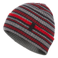 BLACK DIAMOND CARDIFF BEANIE Smoke-Hyper Red Stripe
