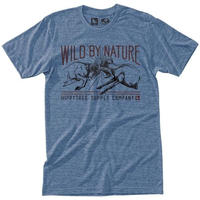 HIPPY TREE CLASH TEE Heather Light Blue