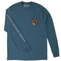 HIPPY TREE WETLAND L/S TEE Heather Navy