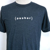 Pusher (p) Print Logo Tee  Black Heather