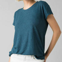 PRANA Womens Cozy Up Tee  Atlantic Heather