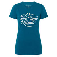 BLACK DIAMOND LIVE CLIMB REPEAT TEE WOMEN'S Nightsky