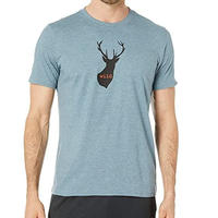 PRANA Buck Wild Journeyman T-shirt Blue Note Heather