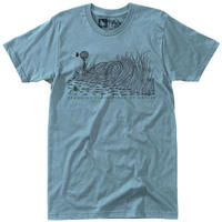 HIPPY TREE WINDBREAK TEE Heather Blue