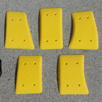 TEKNIK HAND HOLDS  Screw On Low Flat Pinches Yellow