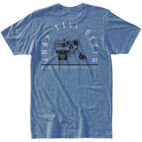 HIPPY TREE SHAKA TEE Hather light Blue