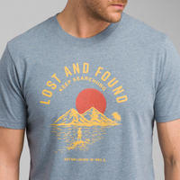 PRANA Bradhaw T-Shirt Blue Note Heather