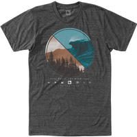 HIPPY TREE LENS TEE Heather Charcoal