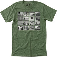 HIPPY TREE MONTAGE TEE Heather Army