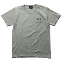 SANTOWN Crew S/S  Pocket Tee - Gray