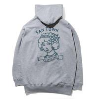 SANTOWN Man's ruin Hoodie  - Gray