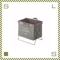 フォールディングバッグ グリーン W39/D26/H35cm 折り畳み 収納ボックス マガジンラック 持ち手付き ミリタリー風 アウトドア azu-mip89gr