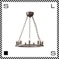 アートワークスタジオ Elements9 電球付 アンティークシャンデリア 9灯 Φ490/H25mm 上向きシャンデリア クラシック レトロ AW-0380V