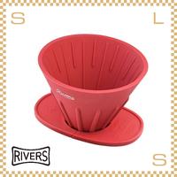 RIVERS リバーズ コーヒーポアオーバーセット レッド コーヒードリッパーケイブリバーシブル&ドリッパーホルダーポンドF