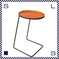 CAMBRO キャンブロ サイドテーブル ラウンド フレーム:ブラック/シルバー オレンジ:天板 W360/H510/H280mm アメリカ製