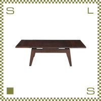 エクステンションローテーブル Sサイズ ブラウン W80(130)/D50/H36cm 伸縮機能付き ローテーブル azu-cpn107br