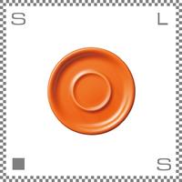 ORIGAMI オリガミ カプチーノカップ/ラテカップ兼用ソーサー オレンジ 6oz/8ozカップ兼用ソーサー Φ147mm 日本製