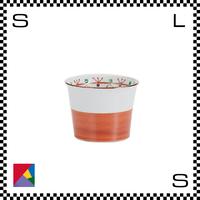 九谷焼 道場八重 そば猪口 赤巻文様 Φ8.5(下径:6.5cm)/H6.5cm カップ フリーカップ ハンドメイド 日本製