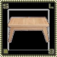 エクステンションローテーブル Sサイズ ナチュラル W80(130)/D50/H36cm 伸縮機能付き ローテーブル azu-cpn107na