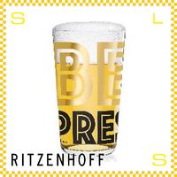 RITZENHOFF リッツェンホフ ビアグラス 330ml BEER ジャスティス・オ・ヒラー Φ80/H140mm タンブラー ペンタグラム ギフト  ritz-3510004
