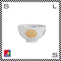 九谷焼 道場八重 茶碗 日月文様 Φ11/H5.5cm ライスボウル ハンドメイド 日本製