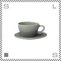 キントー TOPO トポ カップ&ソーサー 300ml グレー コーヒーカップ&ソーサー パステルカラー