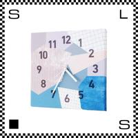 パッチワーク パープル W30/D2/H30cm クロス張り ウォールクロック 壁掛け時計 スイープクオーツ使用 日本製