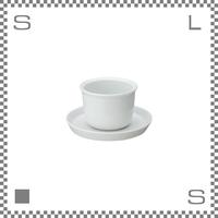 キントー リーブストゥーティー カップ&ソーサー 160ml ホワイト 湯呑み