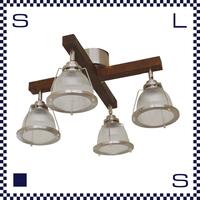HERMOSA ハモサ DINER CROSS ダイナークロス 4灯ランプ ガラスシェード アメリカンダイナー風 ペンダントライト