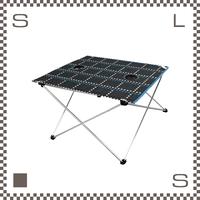 ALL ABOUT ACTIVITY ポータブルテーブル ベイロープチェック W700/D585/H420mm ドリンクホルダー付